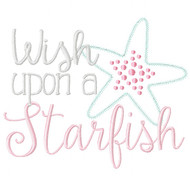 Wish Upon a Starfish Satin and Zigzag Stitch Applique