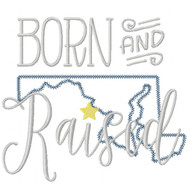 Maryland Born and Raised Vintage and Blanket Stitch Applique
