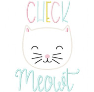 Check Meowt Vintage and Blanket Stitch Applique