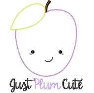 Just Plum Cute Vintage and Blanket Stitch Applique