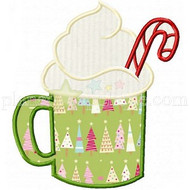 Peppermint Eggnog Applique