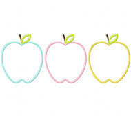 Apples Satin and Zigzag Stitch Applique
