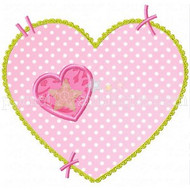 Stitched Heart Applique