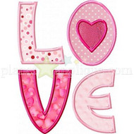L.O.V.E. for Girls Applique