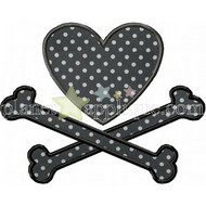 Heart and Crossbones Applique