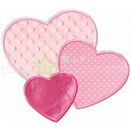 3 Hearts Applique