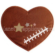 Football Heart Applique