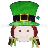 Girl Leprechaun Applique