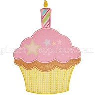 Birthday Cupcake Applique