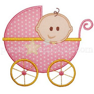 Baby Carriage Applique