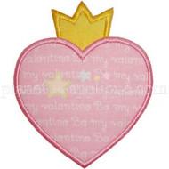Princess Heart Applique