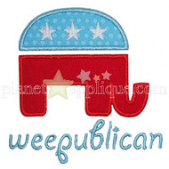 Weepublican Applique