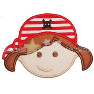 Pirate Girl Applique