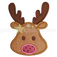 Reindeer Face Applique
