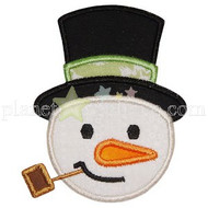Snowman Head Applique