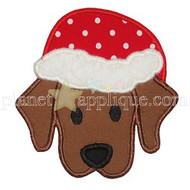 Santa Puppy Applique