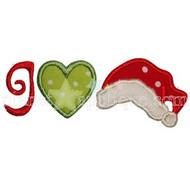 I Love Santa Applique