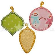 Three Ornaments Applique