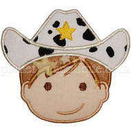 Cowboy Face Applique