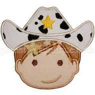 Cowboy Face Applique