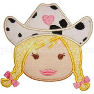 Cowgirl Face Applique