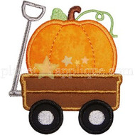 Pumpkin Wagon Applique