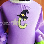 Witch Hat Applique Alphabet