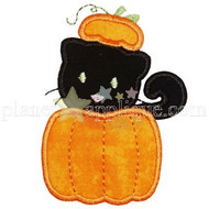 Pumpkin Cat Applique