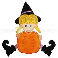 Witch and Pumpkin Applique