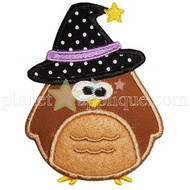 Witch Owl Applique