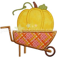 Pumpkin Wheelbarrow Applique