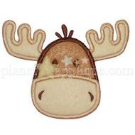 Moose Face Applique