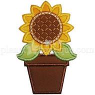 Potted Sunflower Applique
