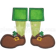 Leprechaun Feet Applique
