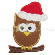 Christmas Owl Applique