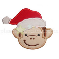Christmas Monkey Applique