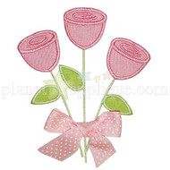 Three Roses Applique