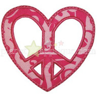 Peace Heart Applique