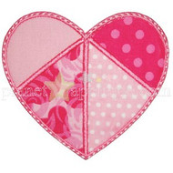 Patchwork Heart Applique