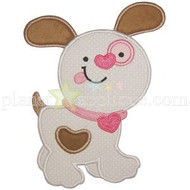 Valentine Puppy Applique