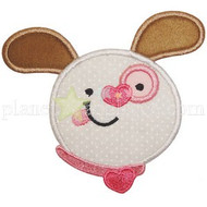 Valentine Puppy Face applique