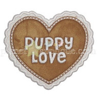 Puppy Love Heart applique