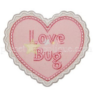 Love Bug Heart Applique