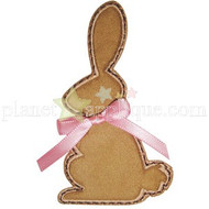 Chocolate Bunny Applique