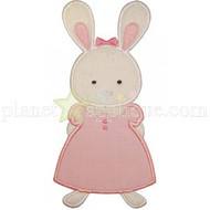 Girl Bunny Applique