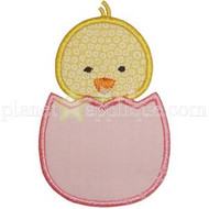 Chick in Egg Applique