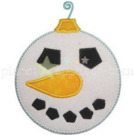 Snowman Ornament Applique