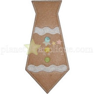Gingerbread Tie Applique
