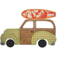 Surf Beach Woodie Applique