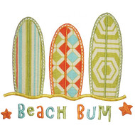 3 Surf Boards Applique